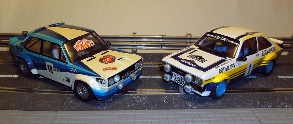 Fiat 131 Abarth & Ford Escort Mk.II Rallye Slot 1/24